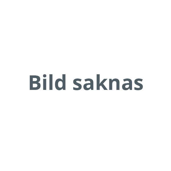 Dolle Lyon trappa 1/4 svängd (Furu) m/vertikal metallräcke